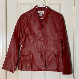 Vintage Bagatelle Red Leather Jacket size M